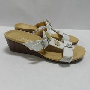Vionic Cleona Sandals Slides Wedge Size 6.5